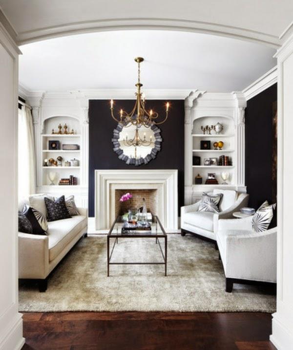 sala pequeña en blanco y gris