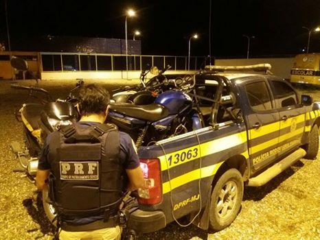 Em 30 minutos, PRF/AL, prende em Canapi,  cinco motocicletas na BR-423