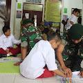 Peringati HDI, Satgas Pamrahwan Yonif 754/ENK Kostrad Kunjungi SLB Mimika