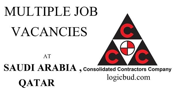 Consolidated Contractors Company Job Vacancies - Gulf Job
