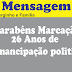 Marcação: Serginho filho do ex-prefeito Paulo Sérgio parabenizar pelos 26 anos de emancipação política