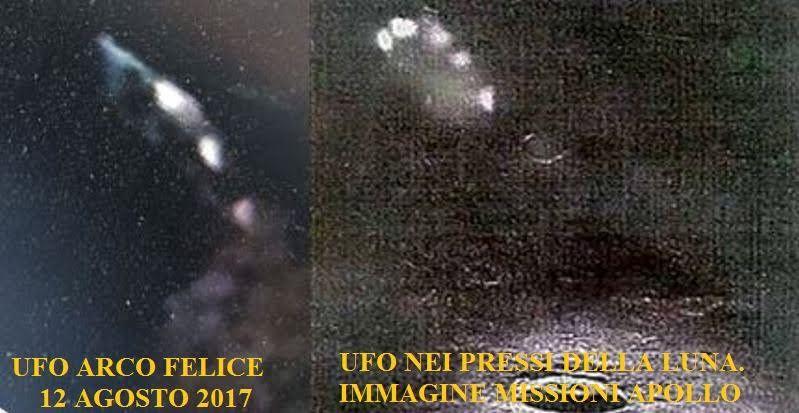 Foto confronto UFO Ovni Arco Felice Napoli Missione Apollo Luna