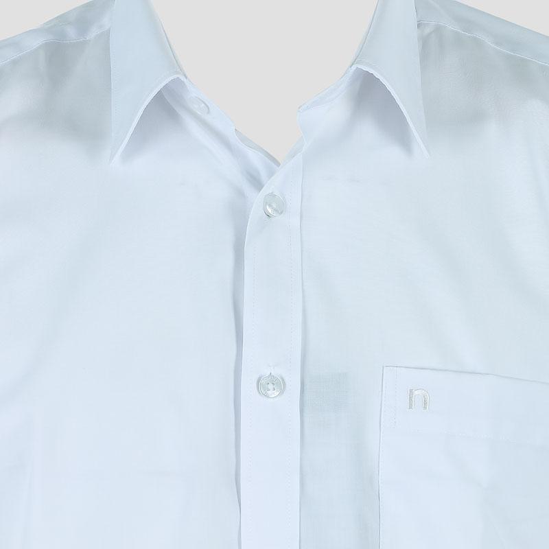 Áo sơ mi nam Novelty dài tay trơn màu trắng NSMMMDMTCC200039D