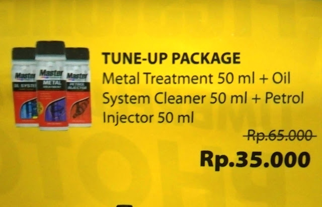 MASTER Metal Treatment 50 ml + MASTER Oil System Cleaner 50 ml + MASTER Petrol Injector 50 ml