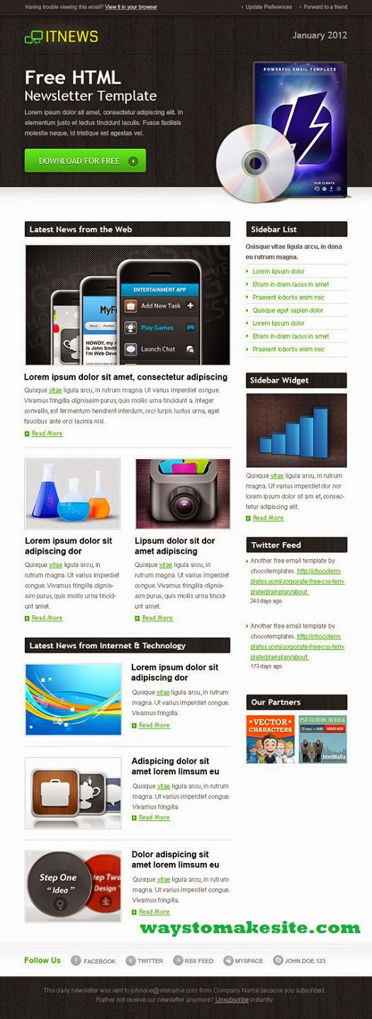 newsletter layout templates free download - download free technology newsletter templates