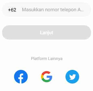 mendaftar aplikasi hello menggunakan no hp