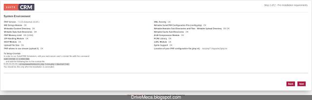El asistente verifica esten todos los paquetes PHP necesitados