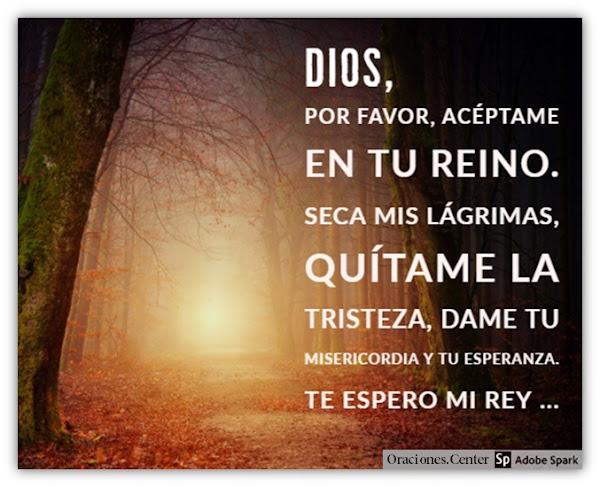 Oración para Morir en Paz con Dios e Iniciar la Eternidad con El