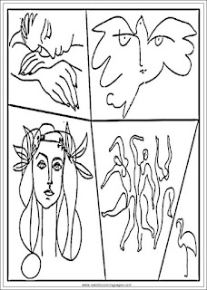 pablo picasso art coloring pages for adults printable