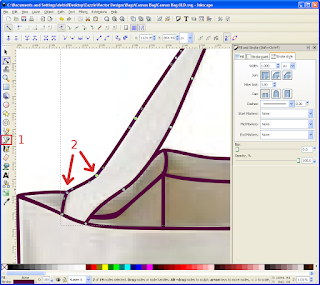 Inkscape Bezier curves