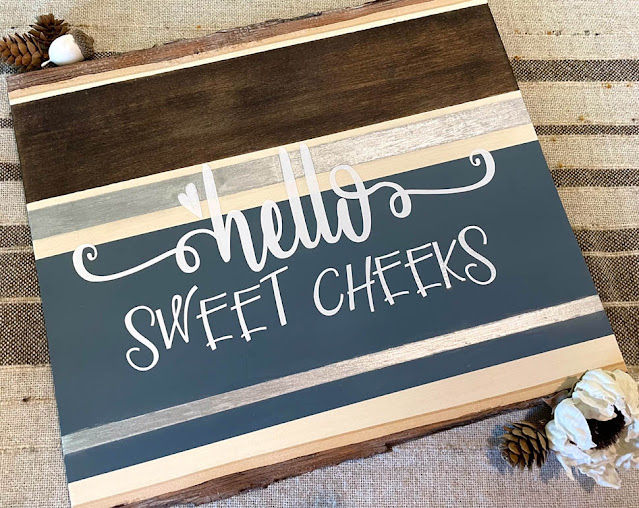 Hello Sweet Cheeks Sign by Thistle Thicket Studio. www.thistlethicketstudio.com