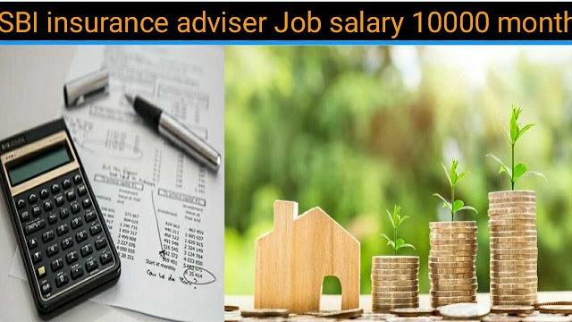 SBI insurance adviser job 2021 | SBI बैंक में बीमा सलाहकार नौकरी |uttar pradesh sbi job salary 10000 month