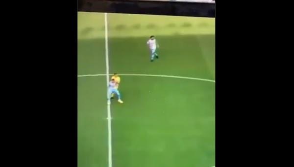 Málaga, el vídeo en el que Stuani golpea primero a Josua Mejías