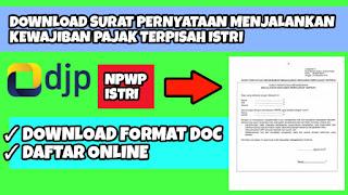 Download surat pernyataan menjalankan kewajiban pajak terpisah bagi seorang istri