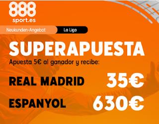 888sport superapuesta liga Real Madrid vs Espanyol 7 diciembre 2019