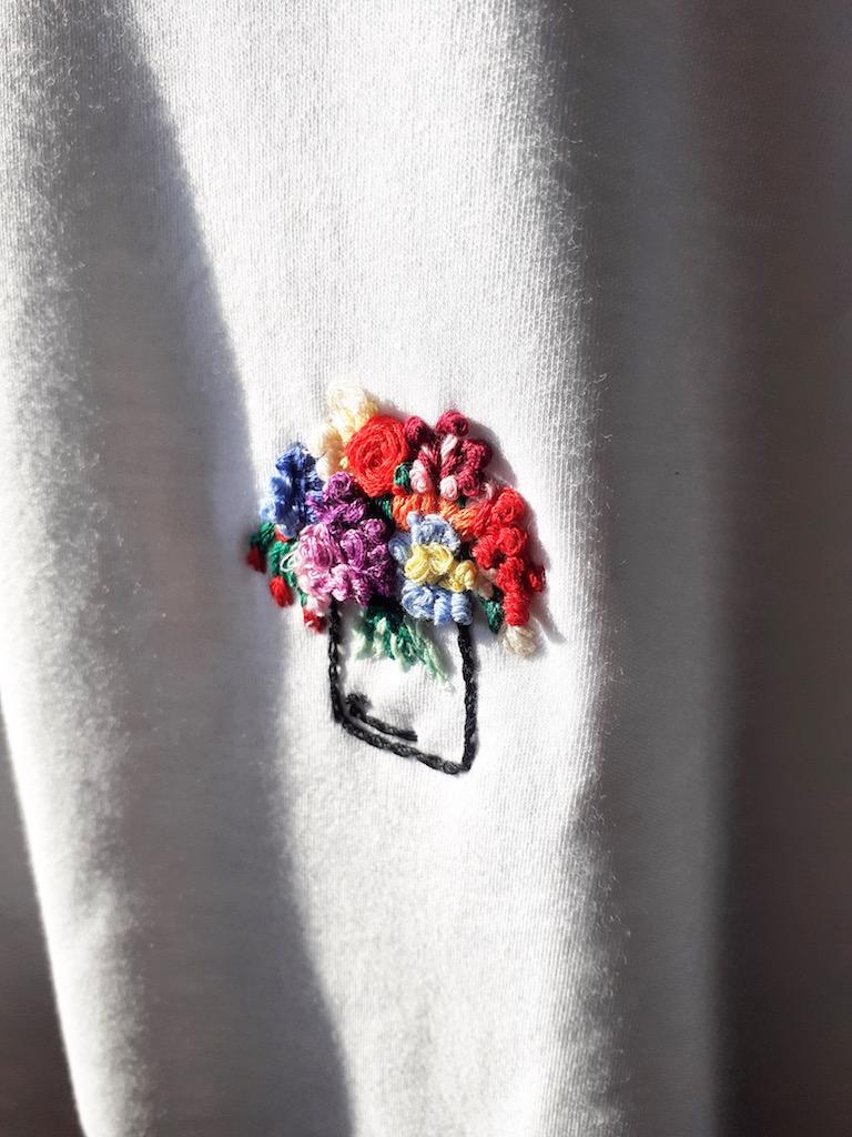 cómo hacer bordado de flores