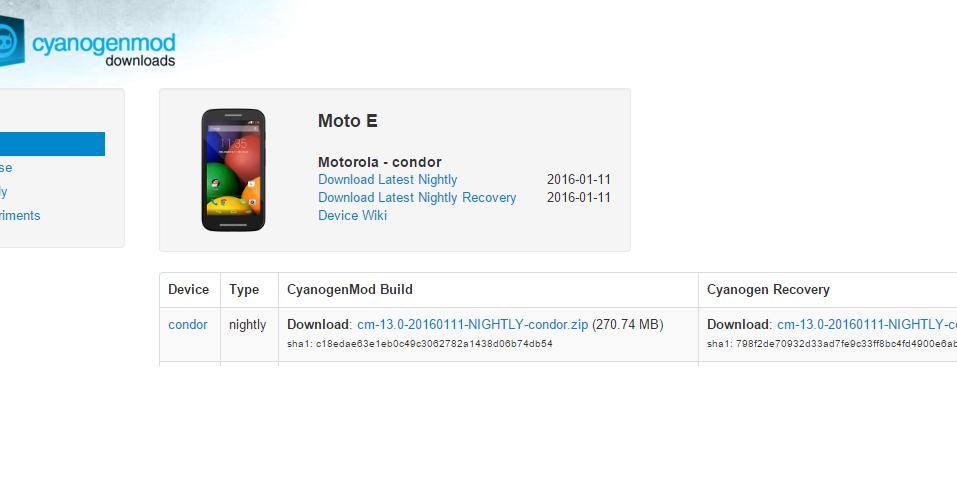 Moto E 1st Gen gets Official Cyanogenmod 13 with Marshmallow