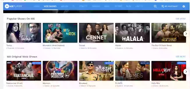 All web series download mx player