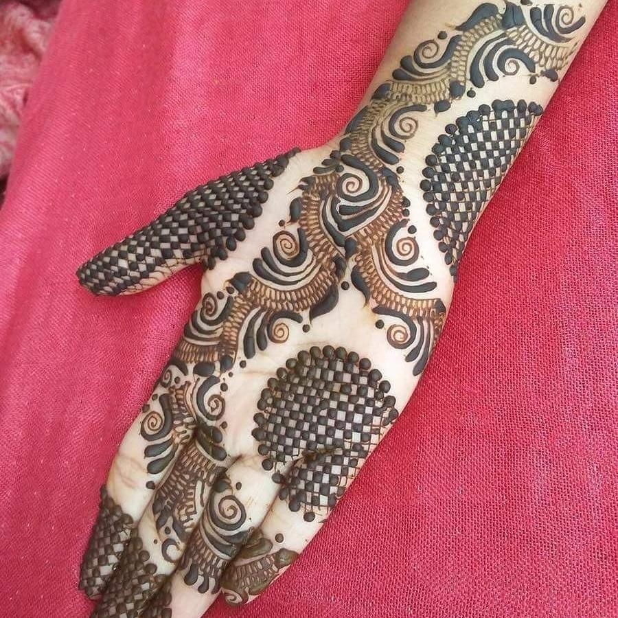 shaded mehndi mehandi design arabic back hand