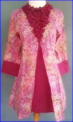 Model Baju Batik Pesta Kombinasi Modern Terbaru