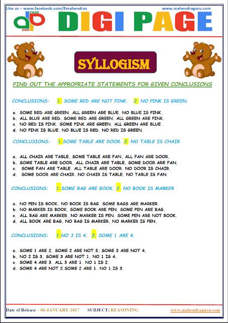 DP | SYLLOGISM | 6 - JAN - 17