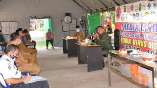 Pj Provinsi Jambi Dampingi Danrem GAPU Jambi Rapat Siapkan Skema Normal Baru Hadapi Covid-19.