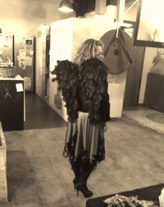 disfraz casero Angel Caído