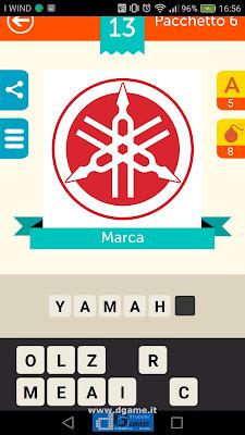 Iconica Italia Pop Logo Quiz soluzione pacchetto 6 livelli 13-100