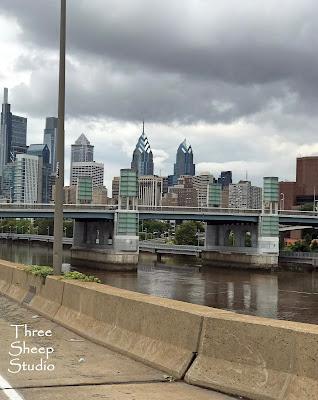 Stormy Philadelphia Cityscape