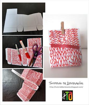 Como decorar con garabatos una caja, Tutorial de Artesania