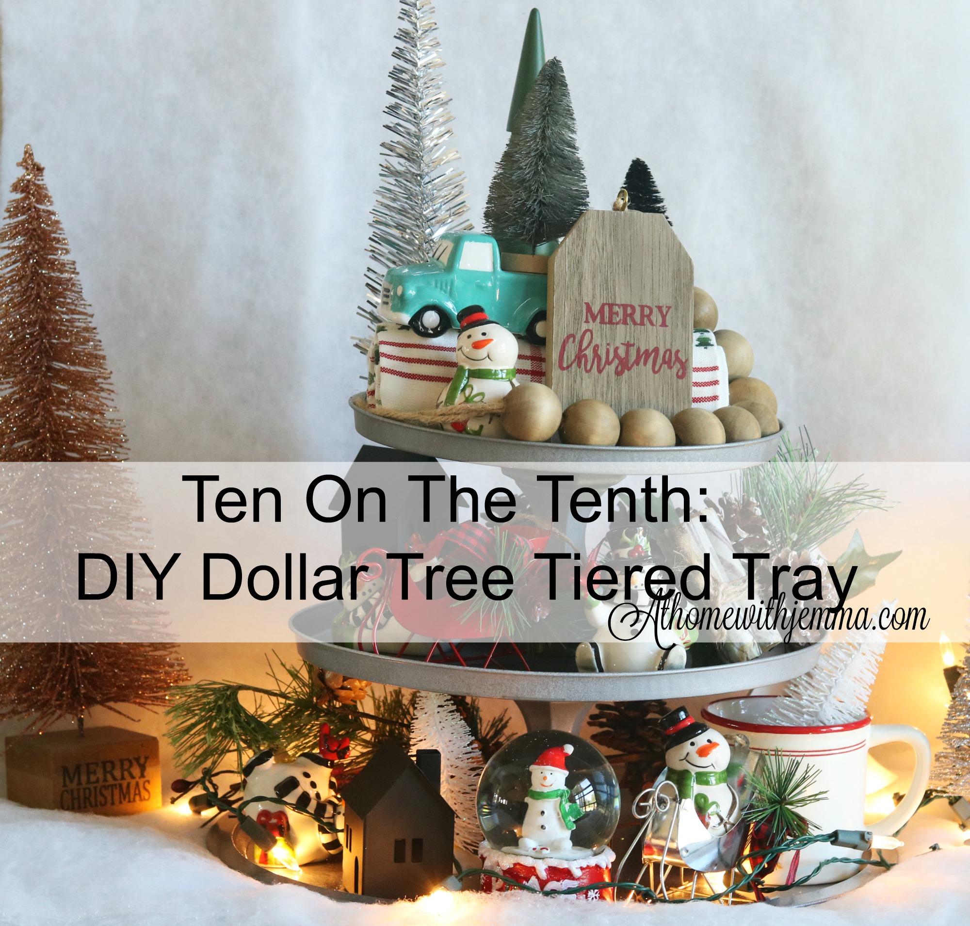 craft, diy, handmade, dollar, tree, decor, tiered, tray, pizza, pan, candlesholder, athomewithjemma