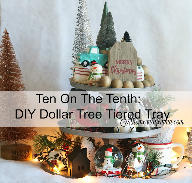 craft, diy, handmade, dollar, tree, decor, tiered, tray, pizza, pan, candlesholder, athomewithjemma