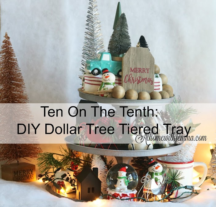DIY Galvanized Three -Tiered Metal Tray: Tenth On The Tenth