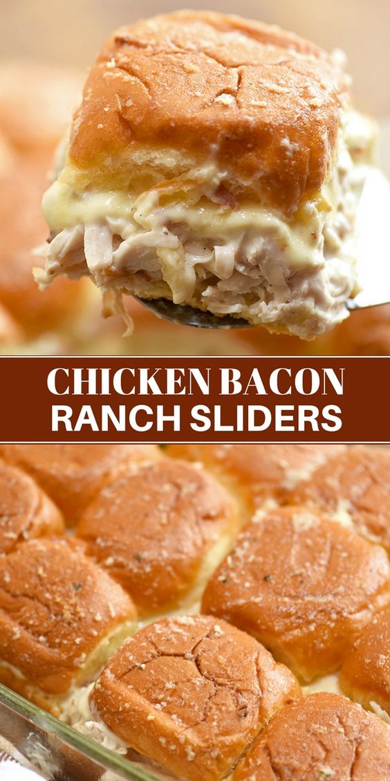 Chicken Bacon Ranch Sliders