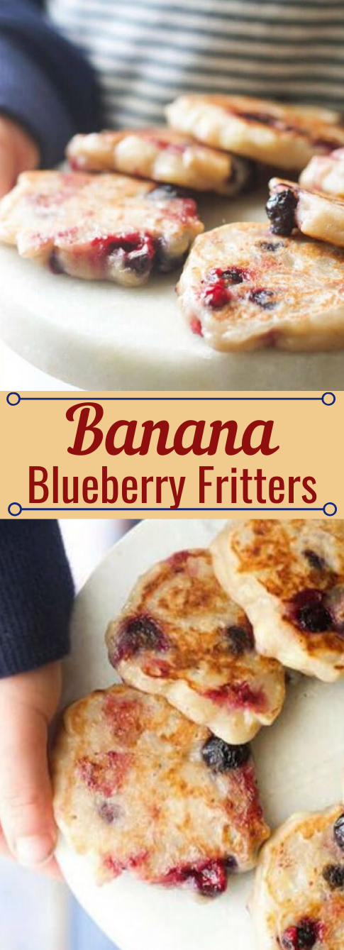 BANANA BLUEBERRY FRITTERS #banana #blueberry #easy #desserts #recipes
