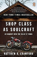 Book cover: Shop Class As Soulcraft by Matthew Crawford