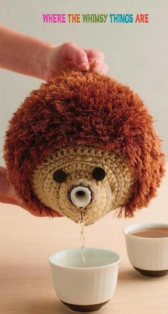 Patrón #1263: Hedgedog Teapot Cosy a Crochet