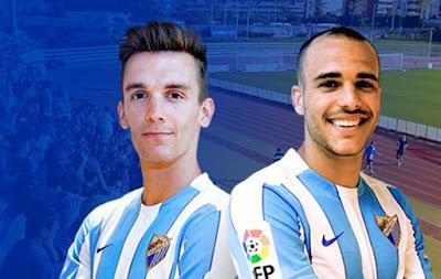 Llorente y Sandro con su nueva camiseta @MalagaCF