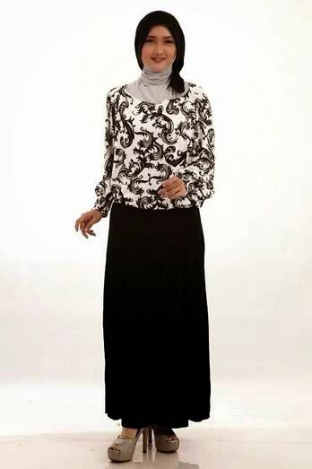 Contoh desain baju batik modern tren terbaru