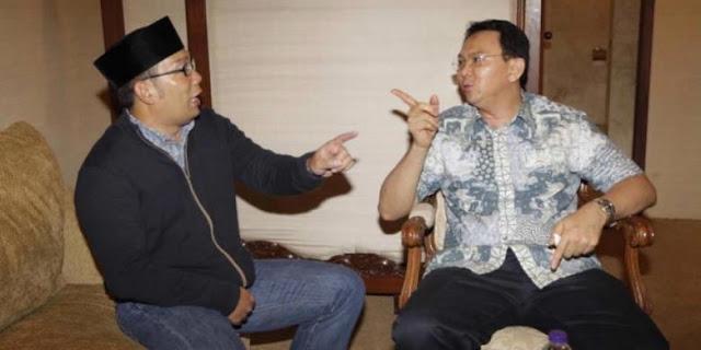 Ridwan Kamil (Kang Emil) dan Basuki Tjahaja Purnama (Ahok)