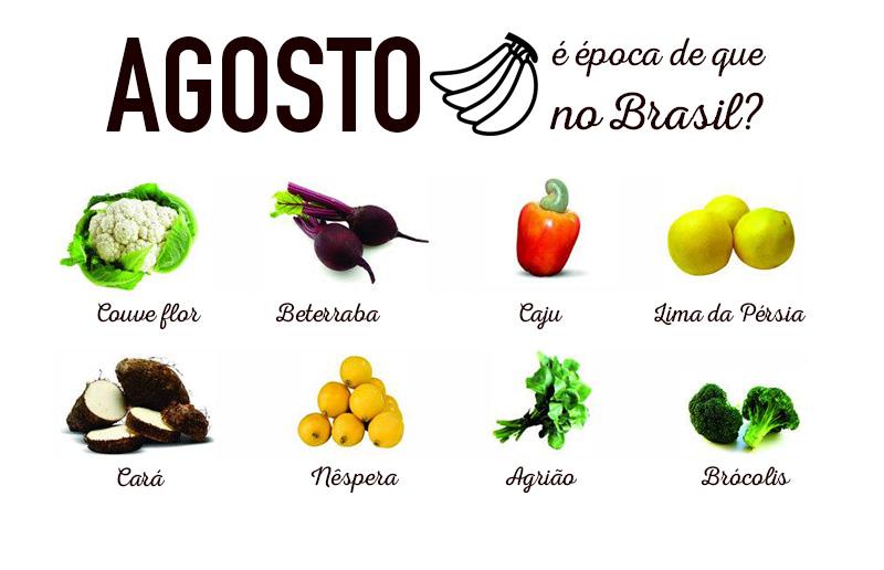 Agosto é época de que verduras e frutas no Brasil  - Casa e Cozinha a803aa47f8