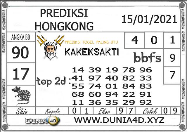 Prediksi Togel HONGKONG DUNIA4D 15 JANUARI 2021