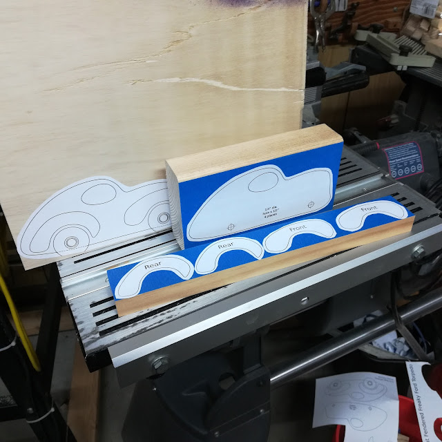 Handmade Wood Toy Car Torpedo Patterns Ready For Drilling