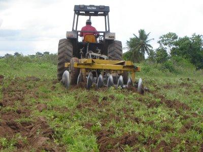 Resultado de imagem para um trator cortando terras em carnaubais