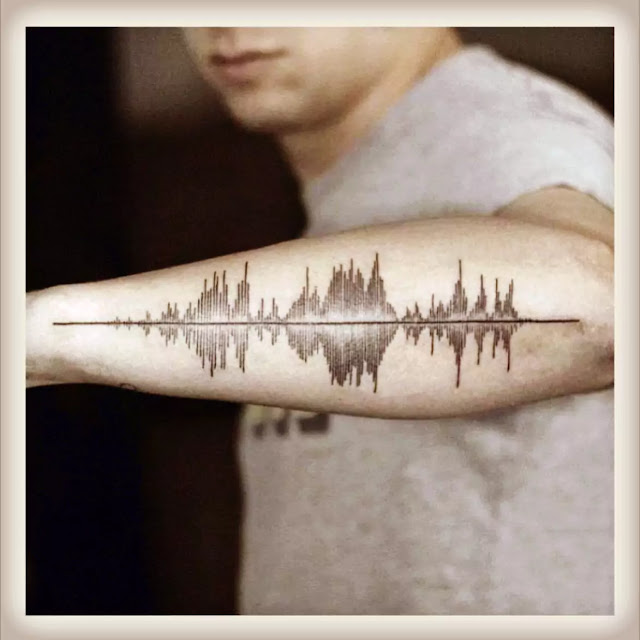 New Year Leg music Tattoo designs and Ideas style
