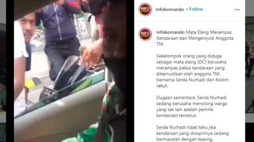 8 Bulan Nunggak Cicilan, Ini Alasan Debt Collector Kroyok Anggota TNI
