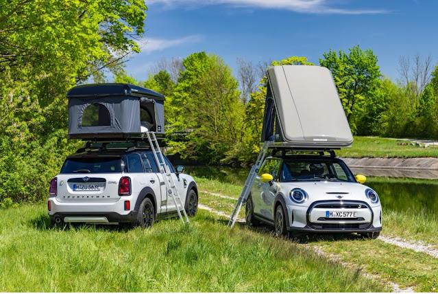 سيارة MINI للعطلات مع تجهيزات التخييم الأكثر استدامة في العالم