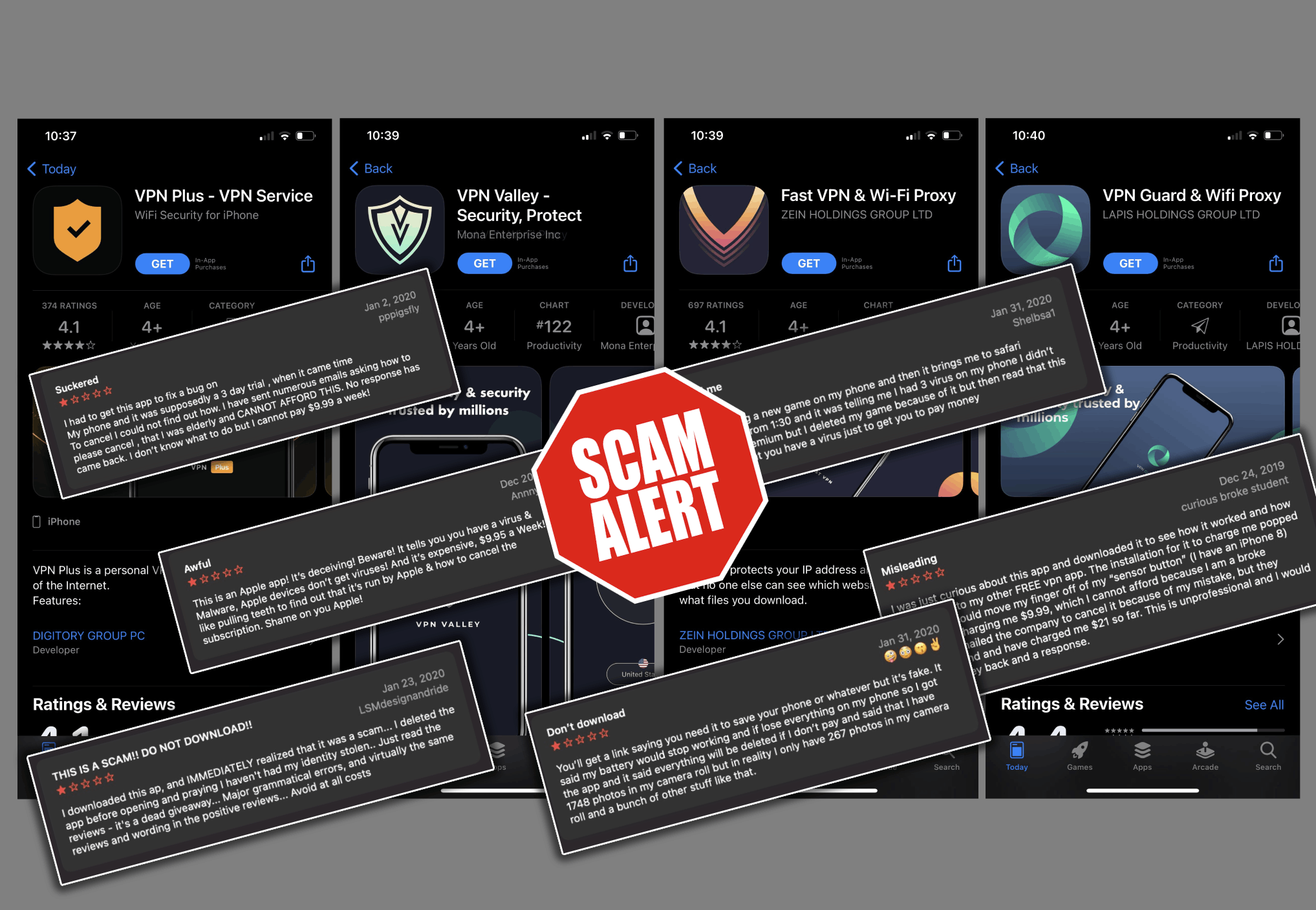 Apple's iPad and iPhone users must be on high alert now as major fleeceware scam apps in the VPN category have been detected on the App Store