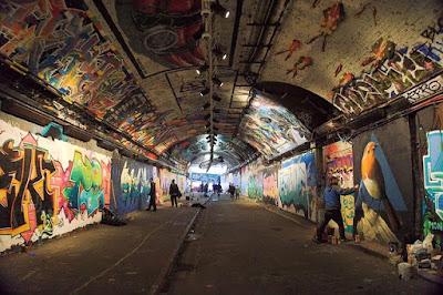 Undergound street art graffiti London