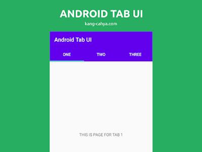 Cara mudah membuat Tab UI Material Design Android dengan kotlin